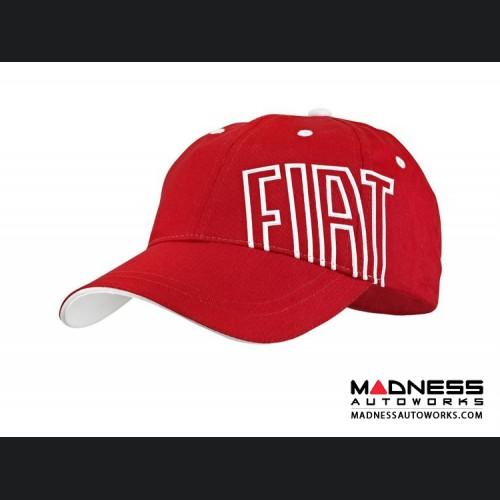 Cap - FIAT - Red w/ White FIAT Logo