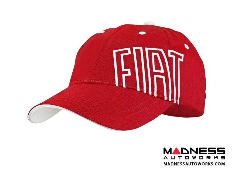FIAT Cap - Red Hat w/ White FIAT Logo
