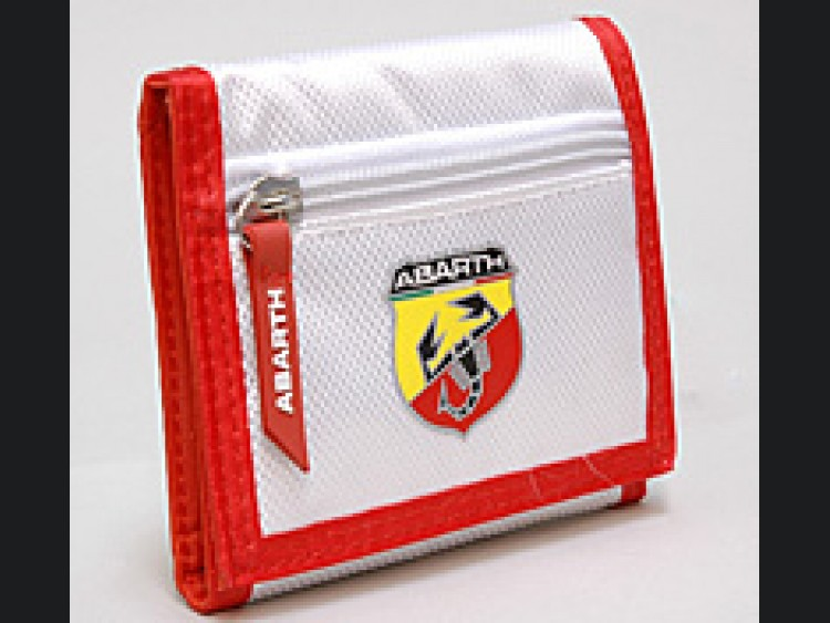 ABARTH Wallet - White w/ Red Trim