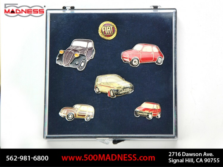"Fiat Pin Set - ""500 Story"" 6 Piece Set"