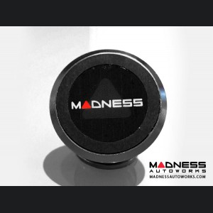 FIAT 500 360 Degree Magnetic Smartphone Mount by MADNESS - Satin Black Stainless Steel