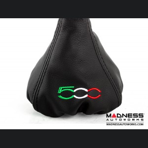 FIAT 500 Gear Shift Boot - Black Leather w/ Black Stitching