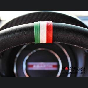 FIAT 500 Steering Wheel Centering Band - Italian Flag Design