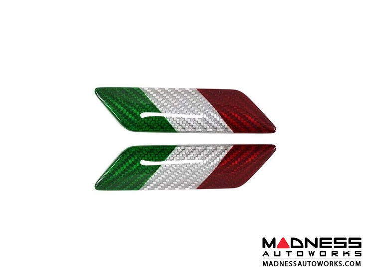 FIAT 500 Badges - Carbon Fiber - Italian Flag