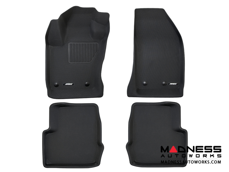 FIAT 500X Floor Liners - All Weather Rubberized - Front + Rear - Premium