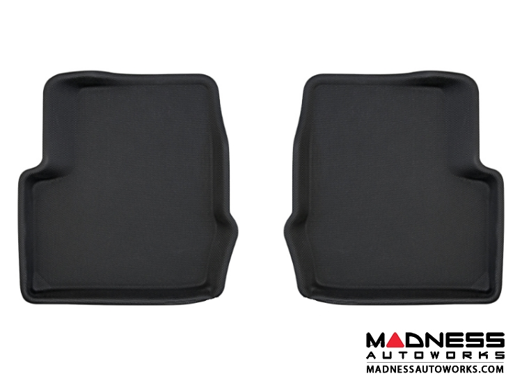 FIAT 500X Floor Liners - All Weather Rubberized - Rear - Premium