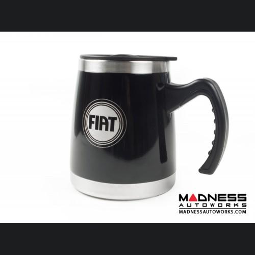 Desk Mug (16oz) - Stainless Steel - FIAT Logo - Black Finish