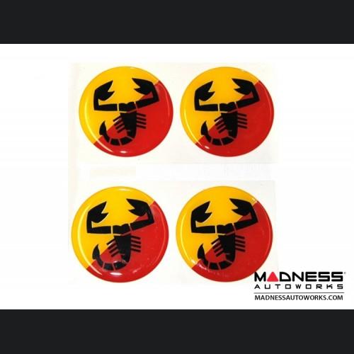 "Wheel Badges (4) - ABARTH Scorpion Inspired Design - 2"""