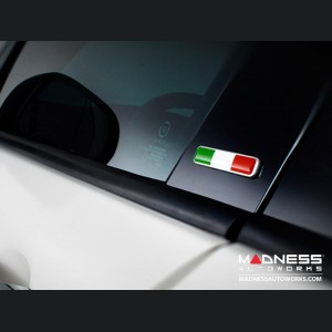 FIAT Badges - Italian Flag Pillar Badges (2)