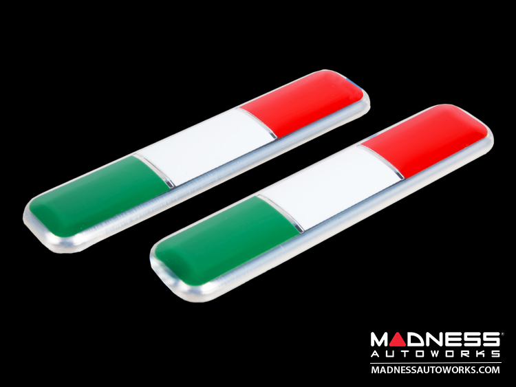 Fiat 500 Badges Italian Flag Pillar Badges 2 Fiat 500 Parts