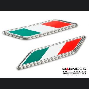 FIAT Fender Badges - set of 2 - Italian Flag Design