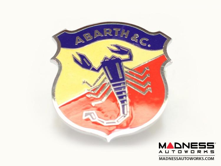 Abarth Amp C Badge Classic Scorpion Logo Metal V1