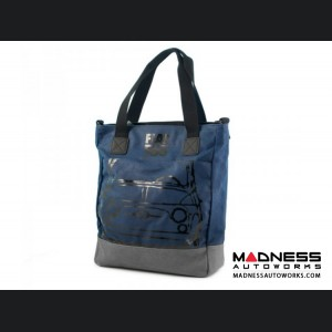 Classic Fiat 500 Tote Bag - Blue with Grey