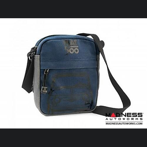 Classic Fiat 500 Shoulder Bag - Blue w/ Grey