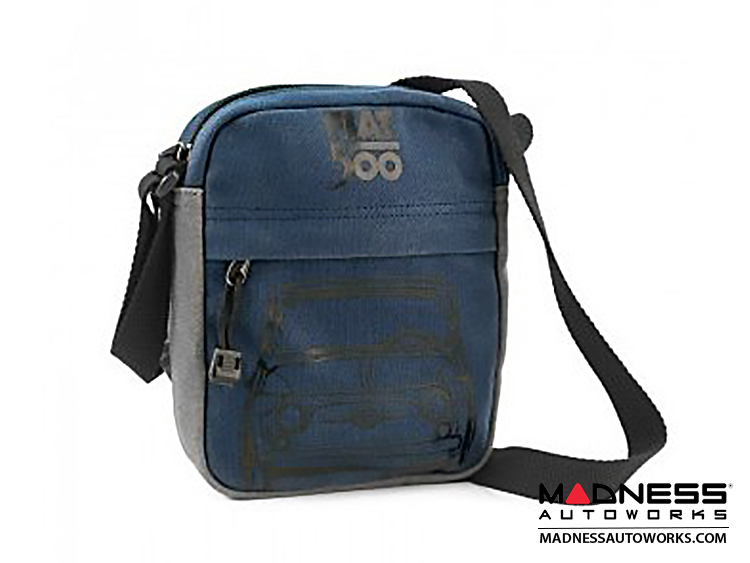 Classic Fiat 500 Shoulder Bag - Blue w/ Grey