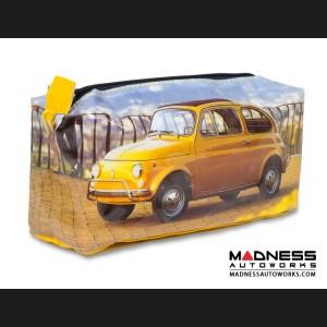 Classic Fiat 500 Pen Case - PVC - Yellow