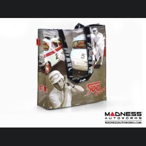 Classic Fiat 500 Shopping Bag - PVC - Classic Fiat 500 Race Cars and Drivers Theme