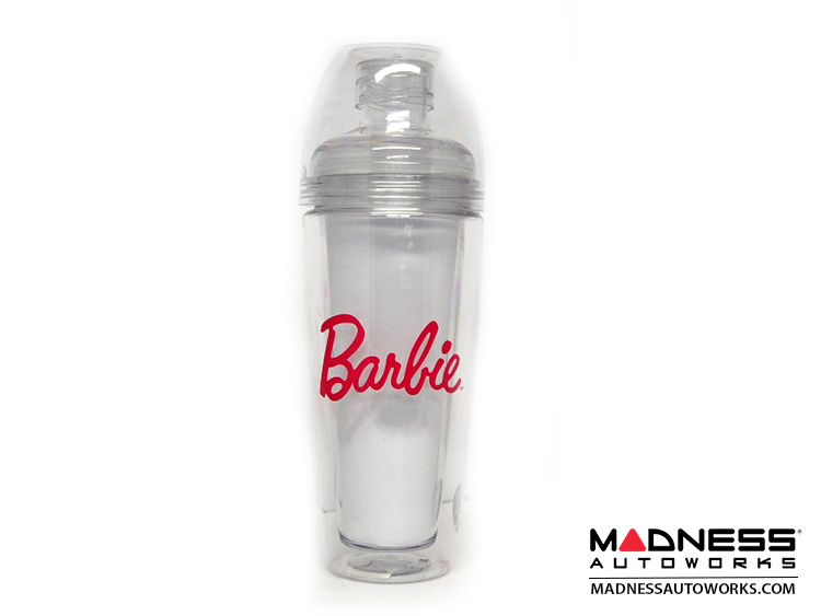 Barbie Drinking Cup w/ Lid - Clear with Pink Logo