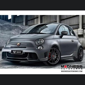FIAT 500 ABARTH Front Emblem in Matte Gray Finish - 595 Edition