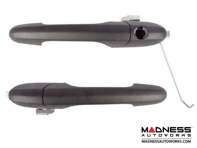 FIAT 500 Door Handles in Matte Gray Finish - ABARTH 595 Edition