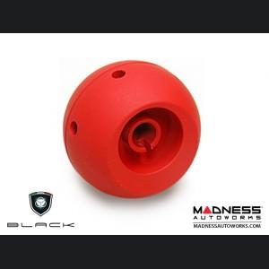 FIAT 500 Gear Shift Knob by BLACK - Chrome Top w/ Red Base