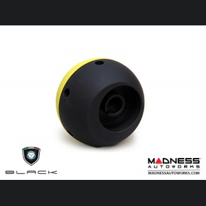 FIAT 500 Gear Shift Knob by BLACK - Yellow Top w/ Black Base