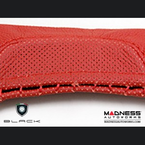 FIAT 500 eBrake Handle Cover - Leather - Red