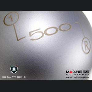 FIAT 500 Gear Shift Knob by BLACK - Silver