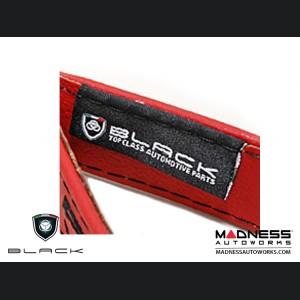FIAT 500 Trunk Handle / Pull Strap - Red w/ Black Stitch + ABARTH Logo
