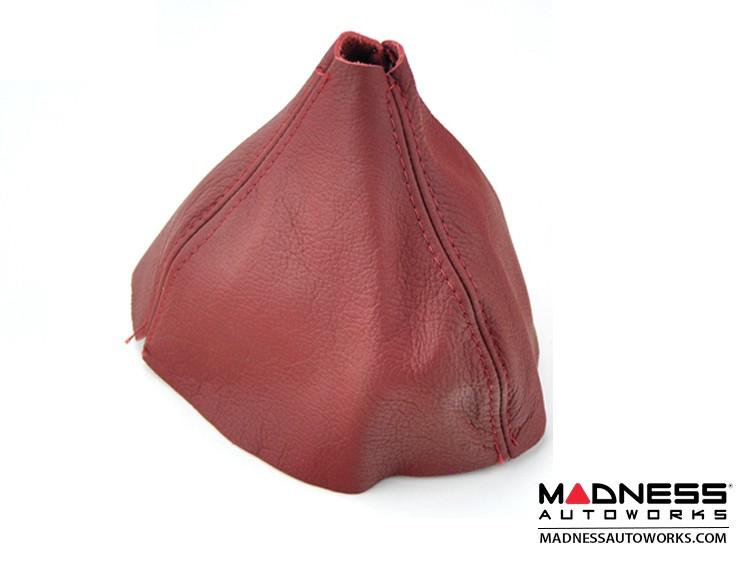 FIAT 500 Gear Shift Boot - Maroon Leather