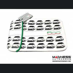 Computer Tablet / iPad / Laptop Case - w/ FIAT 500 Images and Logo
