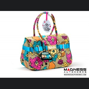 FIAT 500 Italian Ladies Handbag - Flower Collection - Large Size