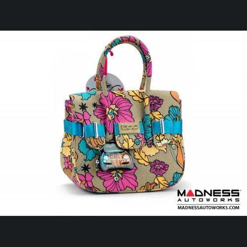 Ladies Handbag - FIAT 500 - Flower Collection - Medium Size