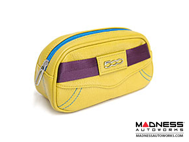 FIAT 500 Traveling Case (Trousse) - Yellow EcoLeather