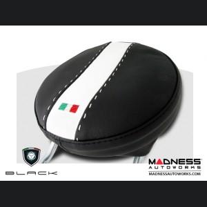 FIAT 500 Headrest Covers - Black/ White Tuxedo - Front Set
