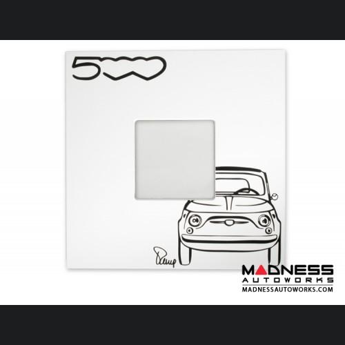 Classic Fiat 500 Wall Mirror - White