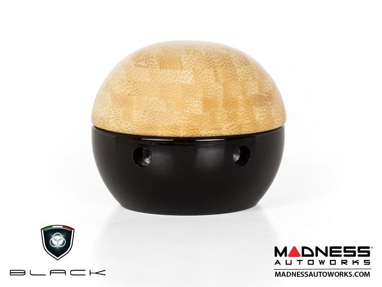 FIAT 500 Gear Shift Knob by BLACK - Wood Top w/ Black Base (Bamboo)