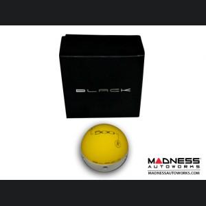 FIAT 500 Gear Shift Knob by BLACK - Yellow Top w/ Pearl Grey Base