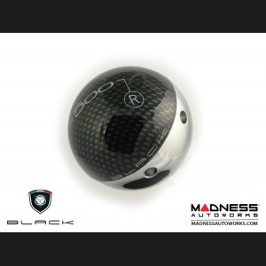 FIAT 500 Gear Shift Knob - Carbon Fiber Top w/ Chrome Base