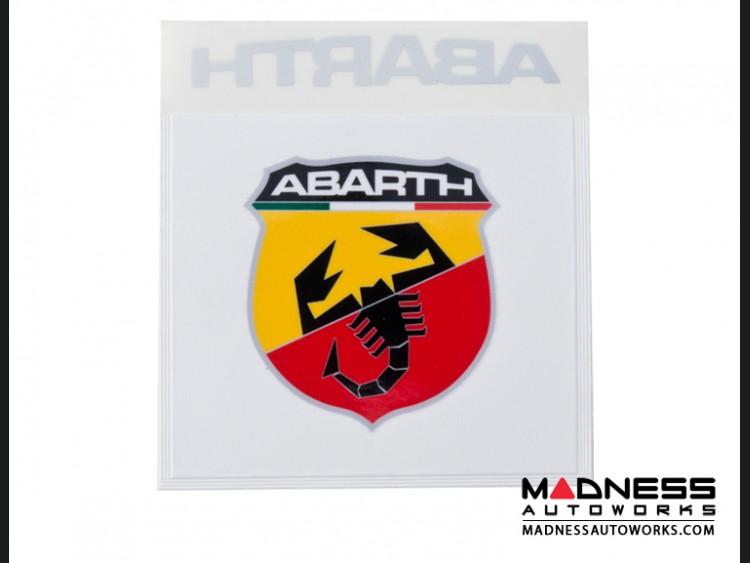 Windshield Insurance Document Holder - ABARTH Logo - White