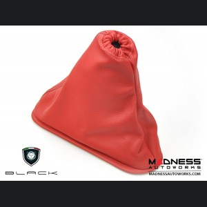FIAT 500 eBrake Boot - Red Leather w/ Black Stitching