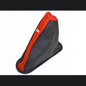 FIAT 500 eBrake Boot - Black Leather w/ Red Center and Italian Flag Design
