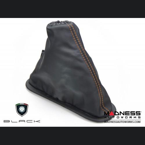 FIAT 500 eBrake Boot - Black Leather w/ Orange Stitching