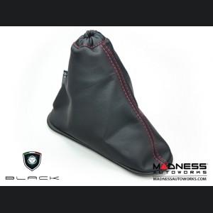 FIAT 500 eBrake Boot - Black Leather w/ Red Stitching