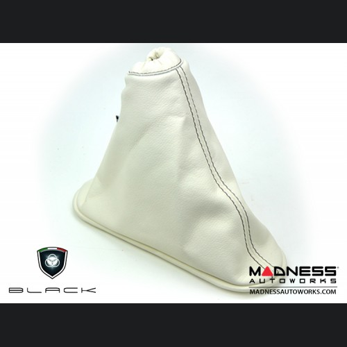 FIAT 500 eBrake Boot - EcoLeather - Ivory w/ Brown Stitching