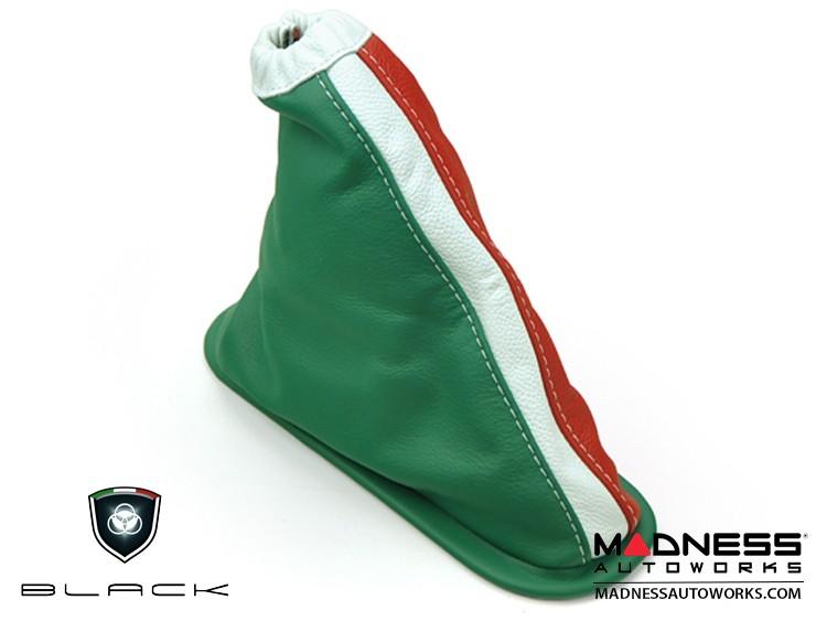 FIAT 500 eBrake Boot - Leather w/ Italian Flag Design