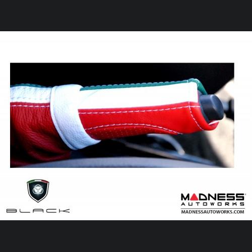 FIAT 500 eBrake Handle Cover - Leather - Italian Flag