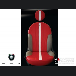 FIAT 500 Seat Covers - Front Seat Covers and Head Rests - Tuxedo Red
