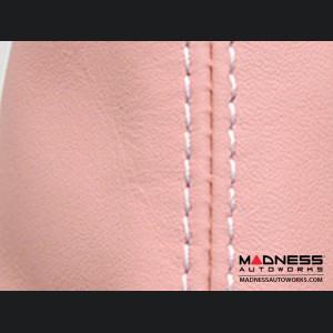 FIAT 500 eBrake Boot - Blush Pink Leather w/ White Stitching