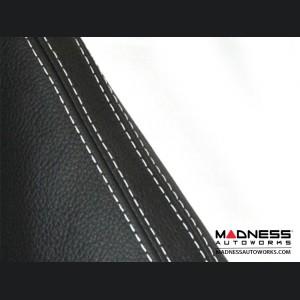 FIAT 500 eBrake Boot - Black Leather w/ White Stitching